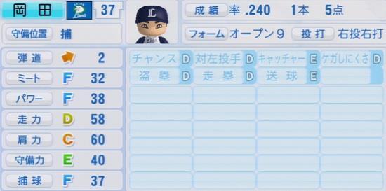 パワプロ2016 岡田雅利 1.03&1.04