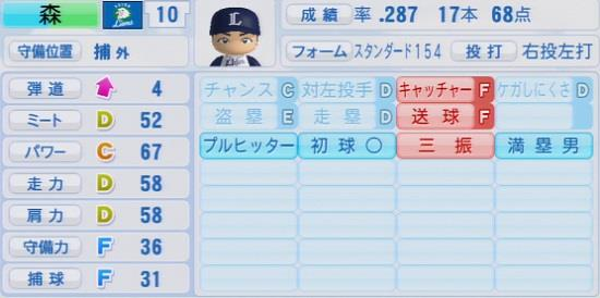 パワプロ2016 森友哉 1.03&1.04