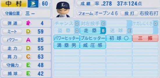 パワプロ2016 中村剛也 1.03&1.04