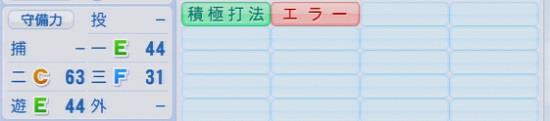 パワプロ2016 浅村栄斗 1.03&1.04守備適正