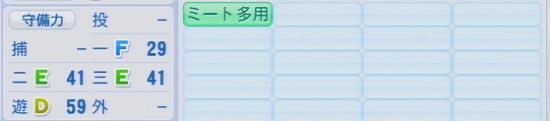 パワプロ2016 鬼﨑裕司 1.03&1.04守備適正