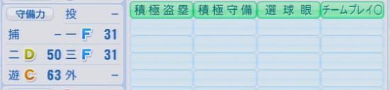 パワプロ2016 渡辺直人 1.03&1.04守備適正