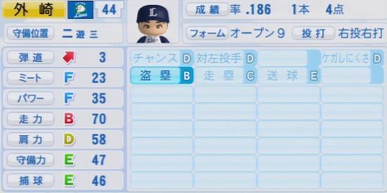 パワプロ2016 外崎修汰 1.03&1.04