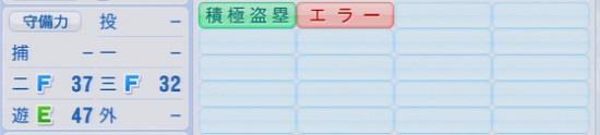 パワプロ2016 外崎修汰 1.03&1.04守備適正