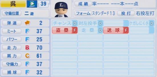 パワプロ2016 呉念庭 1.03&1.04
