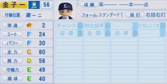 パワプロ2016 金子一輝 1.03&1.04