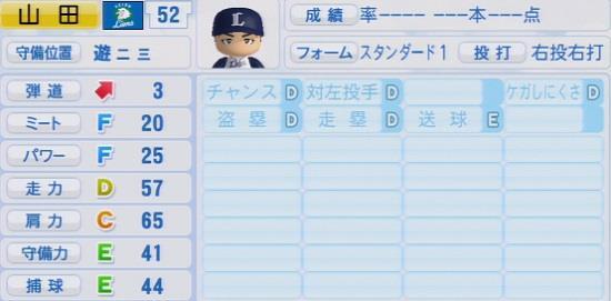 パワプロ2016 山田遥楓 1.03&1.04