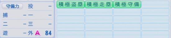 パワプロ2016 秋山翔吾 1.03&1.04守備適正