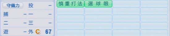 パワプロ2016 栗山巧 1.03&1.04守備適正