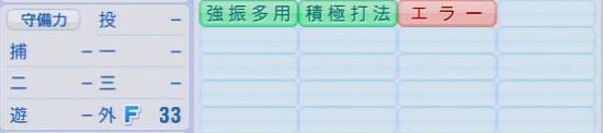 パワプロ2016 竹原直隆 1.03&1.04守備適正