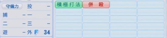 パワプロ2016 坂田遼 1.03&1.04守備適正