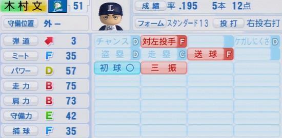 パワプロ2016 木村文紀 1.03&1.04