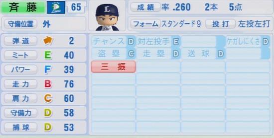 パワプロ2016 斉藤彰吾 1.03&1.04