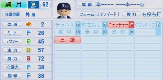 パワプロ2016 駒月仁人 1.03&1.04