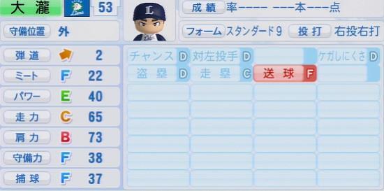 パワプロ2016 大瀧愛斗 1.03&1.04