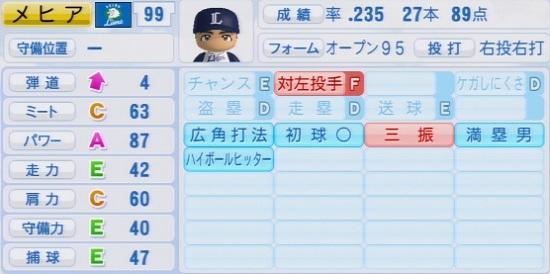 パワプロ2016 メヒア 1.03&1.04