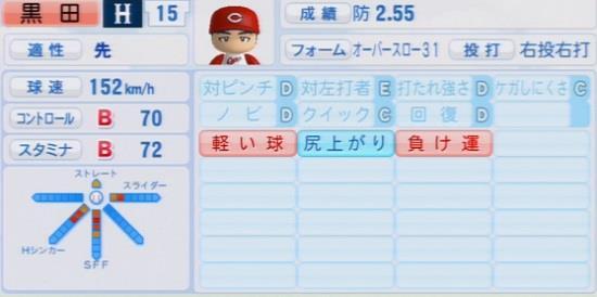 パワプロ2016 黒田博樹 1.03&1.04