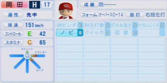 パワプロ2016 岡田明丈 1.03&1.04