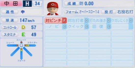 パワプロ2016 中田廉 1.03&1.04