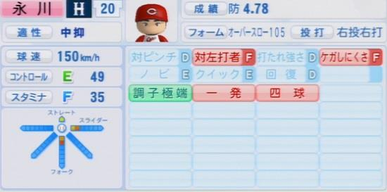 パワプロ2016 永川勝浩 1.03&1.04
