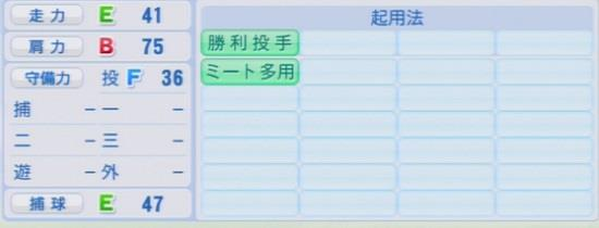 パワプロ2016 薮田和樹 1.03&1.04