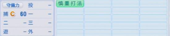 パワプロ2016 石原慶幸 1.03&1.04 守備適正