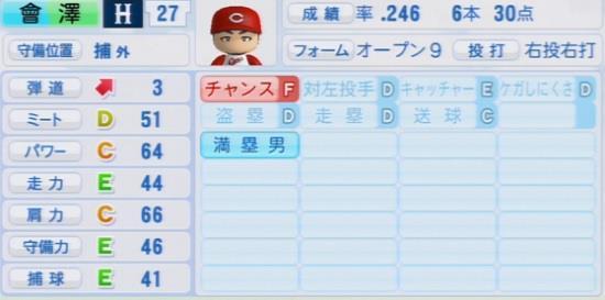 パワプロ2016 會澤翼 1.03&1.04