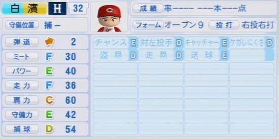 パワプロ2016 白濱裕太 1.03&1.04