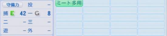 パワプロ2016 白濱裕太 1.03&1.04守備適正