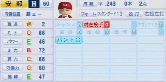 パワプロ2016 安部友裕 1.03&1.04