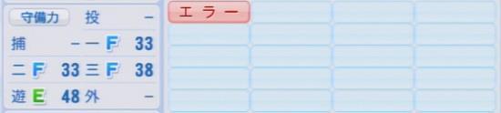 パワプロ2016 小窪哲也 1.03&1.04守備適正