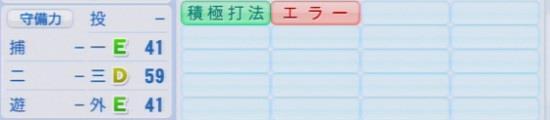 パワプロ2016 堂林翔太 1.03&1.04守備適正
