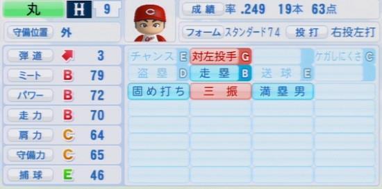 パワプロ2016 丸佳浩 1.03&1.04