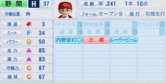 パワプロ2016 野間峻祥 1.03&1.04