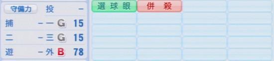 パワプロ2016 廣瀬純 1.03&1.04守備適正
