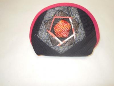 五角形バラ風ポーチ2-1107