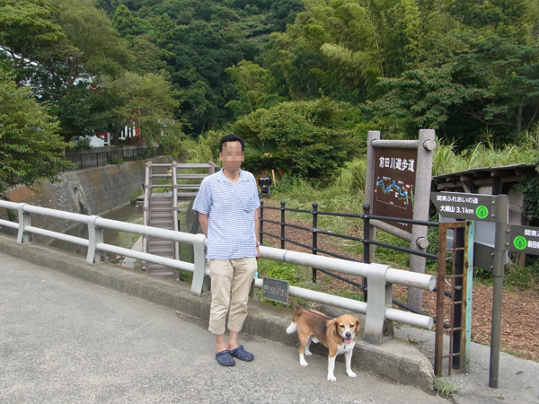 20160817前田川遊歩道入り口