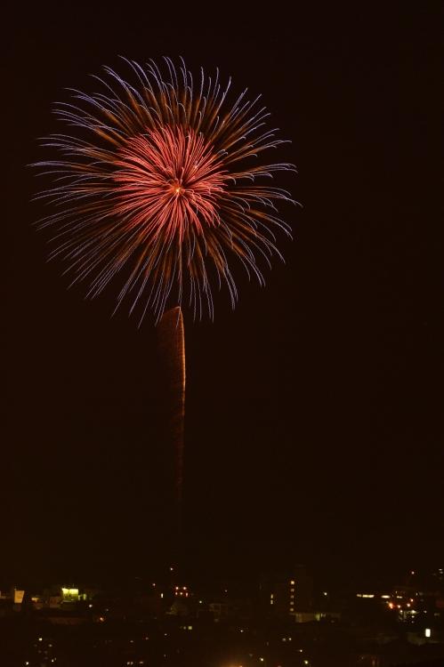 秋の夜の花火(福江港祭り)2