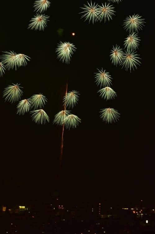 秋の夜の花火(福江港祭り)1