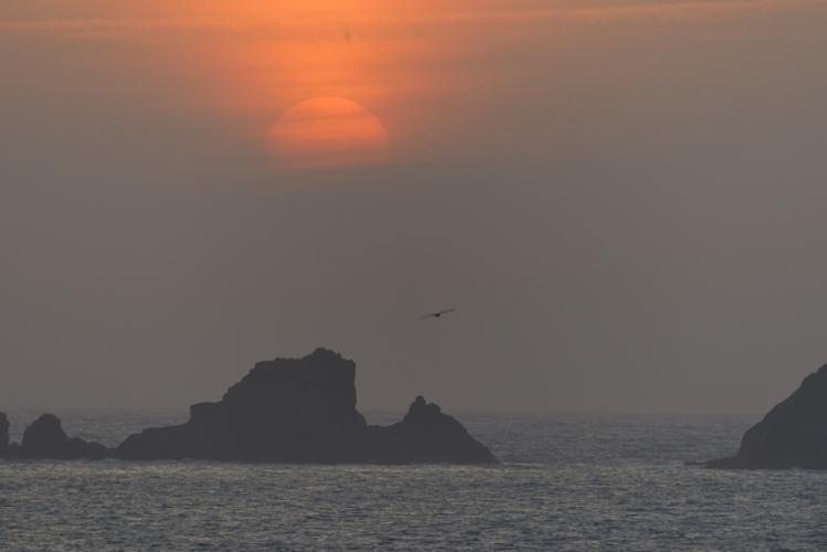 今日の夕陽2016.04.17