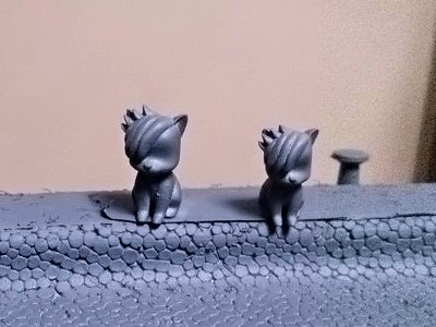 黒尾ネコさん2匹