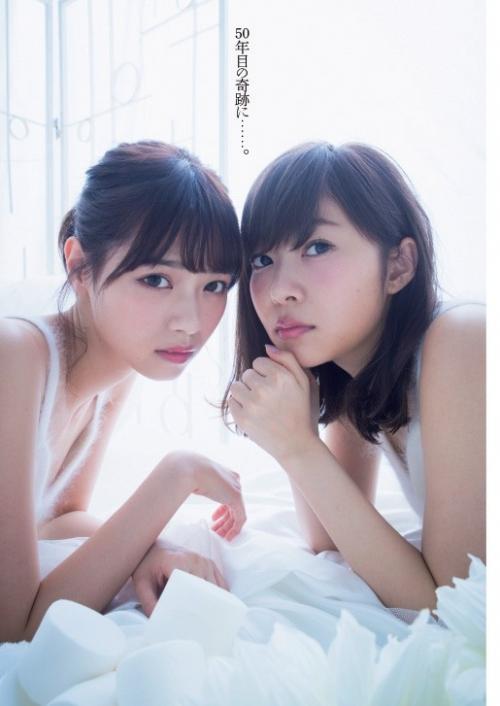 【HKT48×乃木坂46】指原莉乃と西野七瀬のツーショットグラビアが実現!指原「ななせまるを彼女にしたい!」