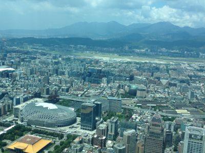 台北101の展望台からの景色・北側