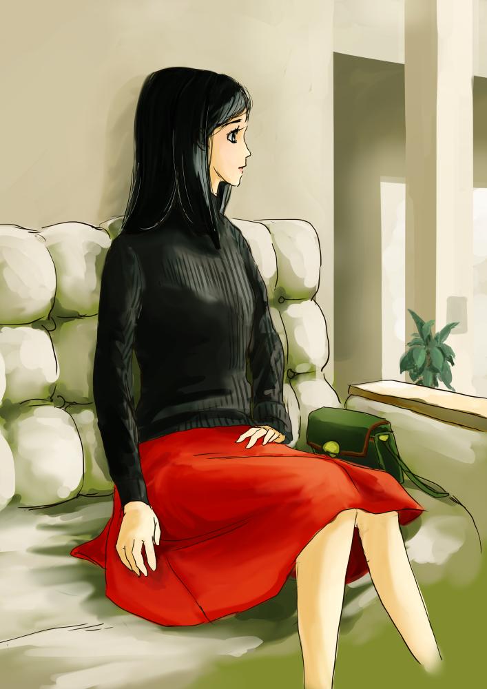 スカートの練習2