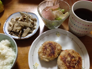 作ってくれた夕飯