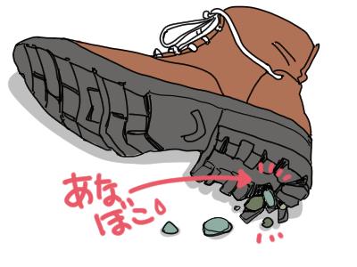 あなぼこ靴