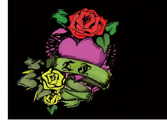 薔薇と心700