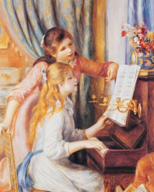 ピアノに寄る少女たちs