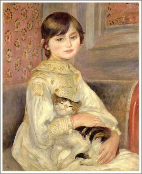 猫を抱く少女s
