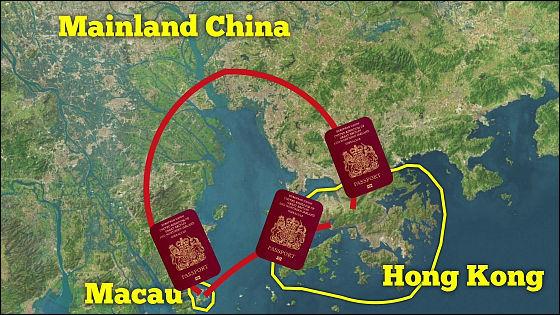 香港と中国本土